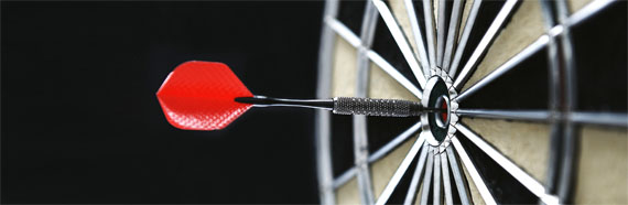 Goal setting - aiming for the bulls eye